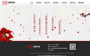 宝蓁投资(基金)公司网站设计