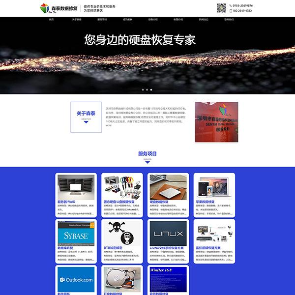 森泰数维电子公司网站设计