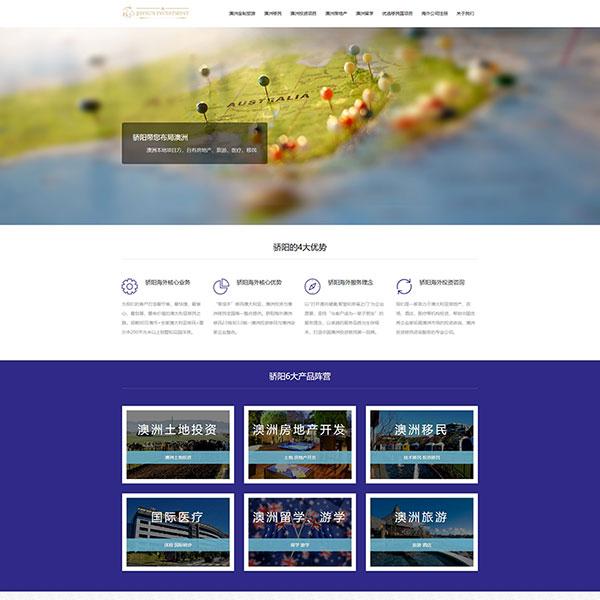 骄阳海外投资公司网站建设
